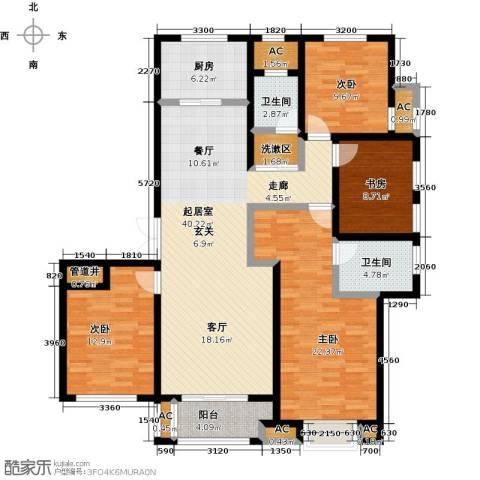 科达府左华苑4室0厅2卫1厨164.00㎡户型图