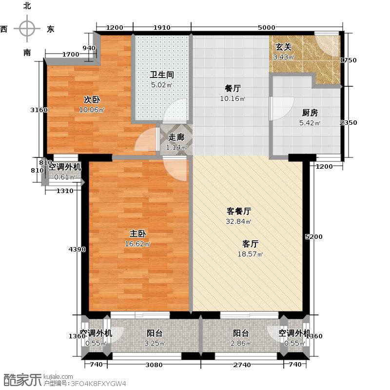 旭辉・奥都6号楼D12室1厅1卫户型