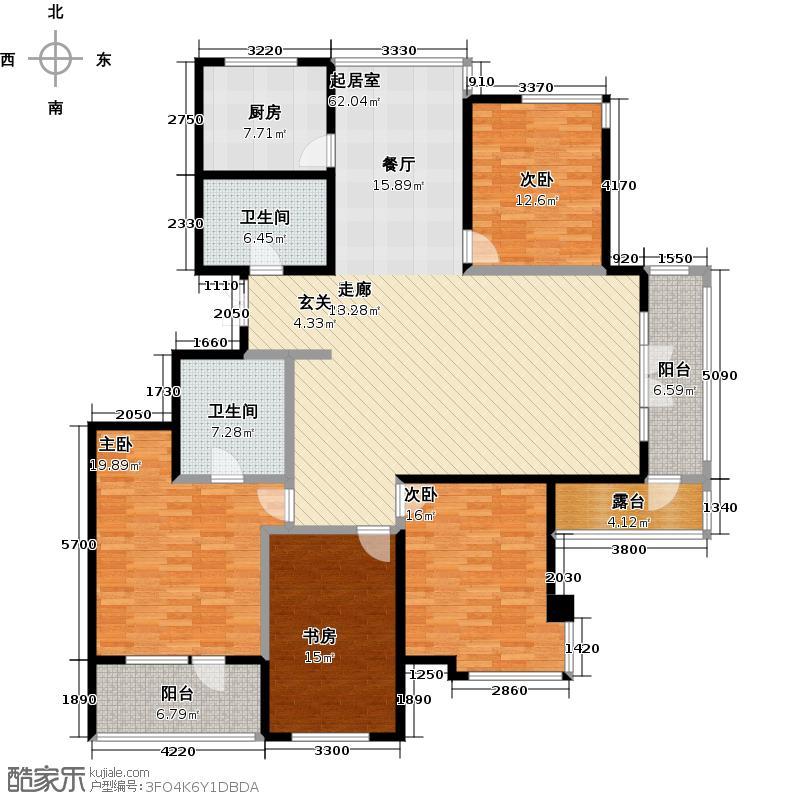 津滨滨海国际195.65㎡四室二厅二卫户型