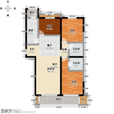 开元花半里3室0厅2卫1厨146.00㎡户型图