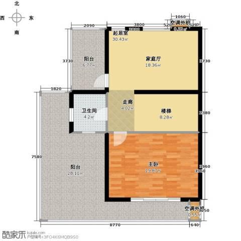 国际新城胜宏・靓都2期1室0厅1卫0厨125.00㎡户型图