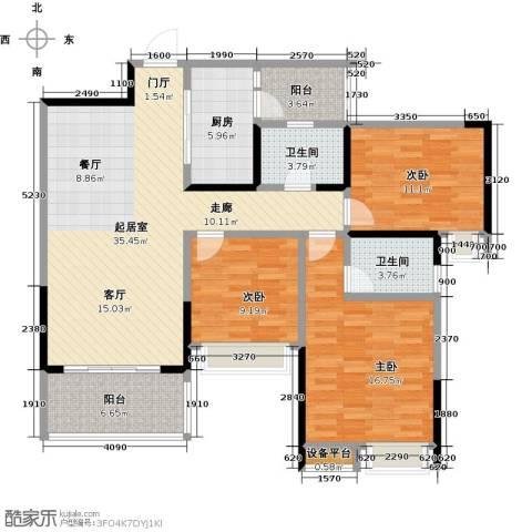 璐易豪庭3室0厅2卫1厨110.00㎡户型图
