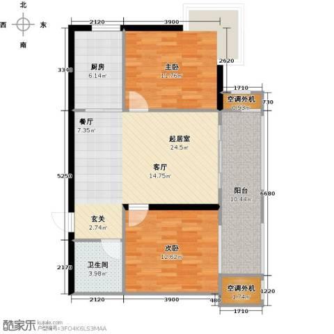 盛世闲庭二期2室0厅1卫1厨99.00㎡户型图