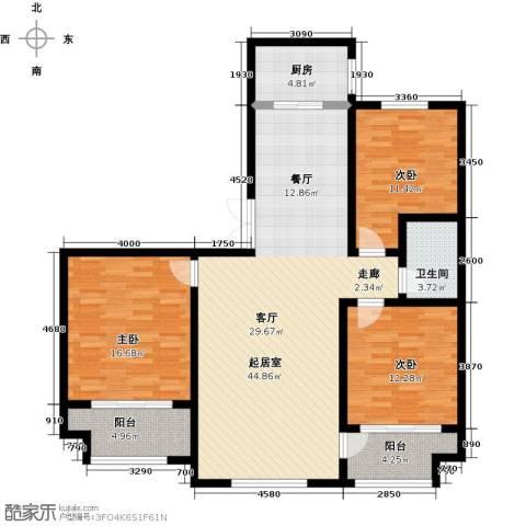 石臼老街3室0厅1卫1厨147.00㎡户型图
