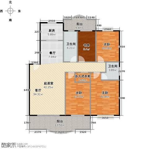 天龙花园4室0厅2卫1厨142.00㎡户型图