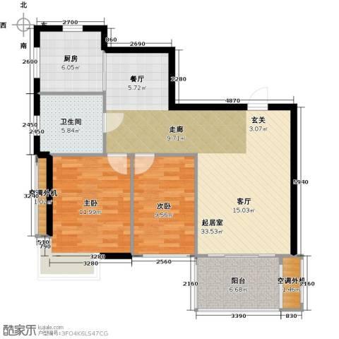 盛世闲庭二期2室0厅1卫1厨105.00㎡户型图