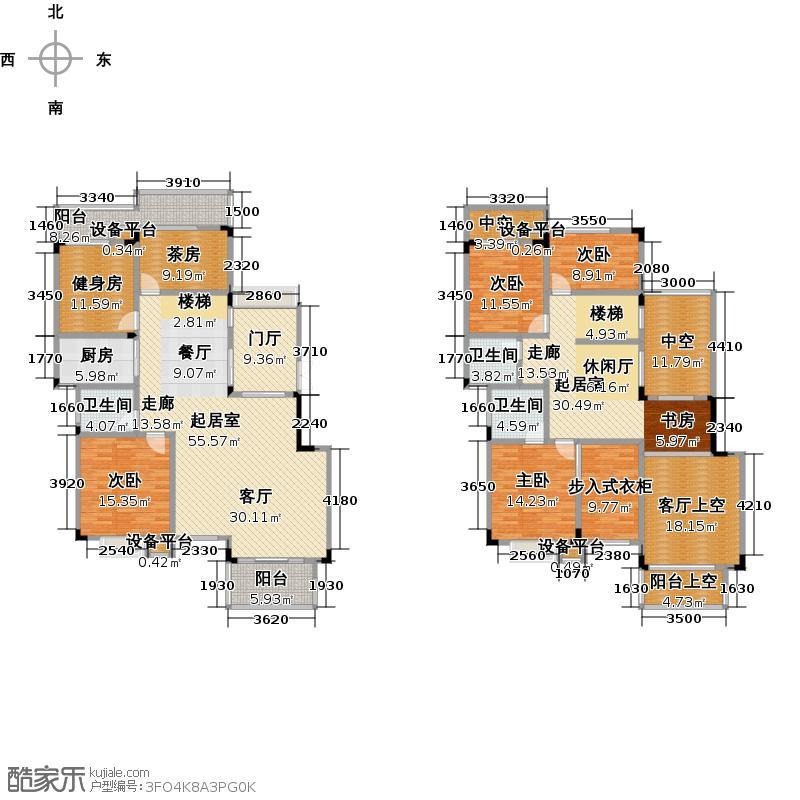 耀和荣裕242.50㎡22、24栋复式g1户型:六室三厅三卫户型