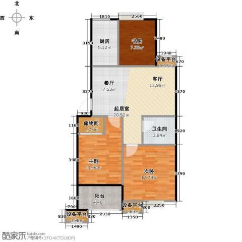 蔚海新天地3室0厅1卫1厨80.00㎡户型图