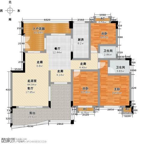 花季华庭3室0厅2卫1厨188.00㎡户型图