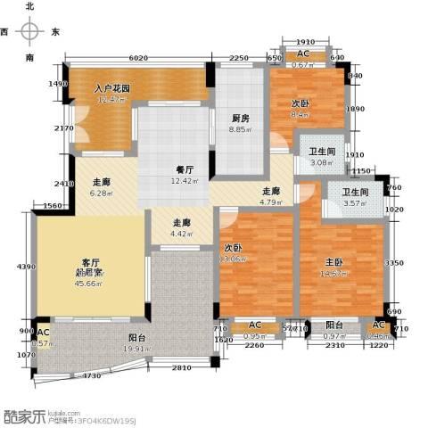 花季华庭3室0厅2卫1厨144.00㎡户型图