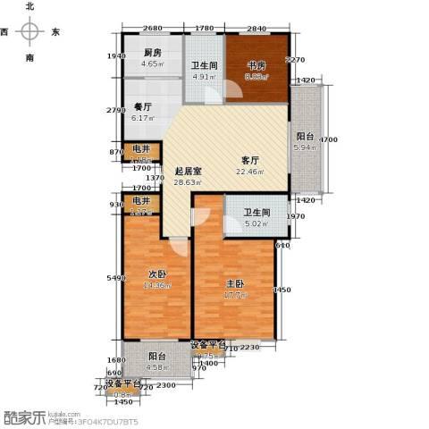 蔚海新天地3室0厅2卫1厨119.00㎡户型图