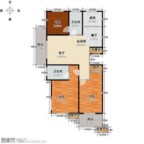 蔚海新天地3室0厅2卫1厨122.00㎡户型图