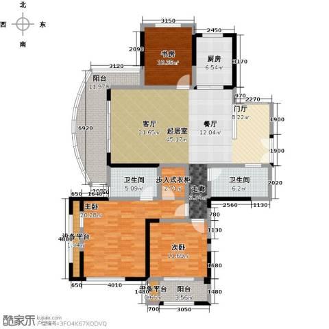 万宇御湖郡3室0厅2卫1厨145.00㎡户型图