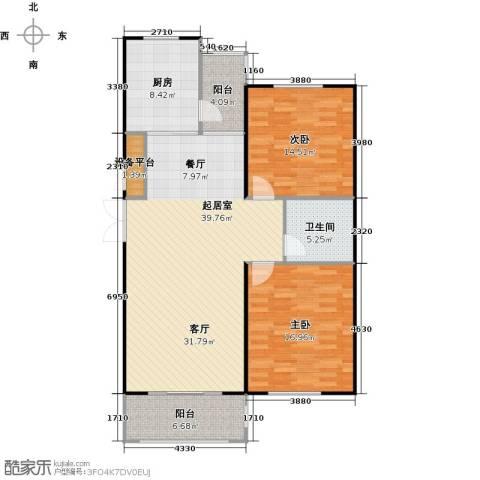 蔚海新天地2室0厅1卫1厨106.00㎡户型图