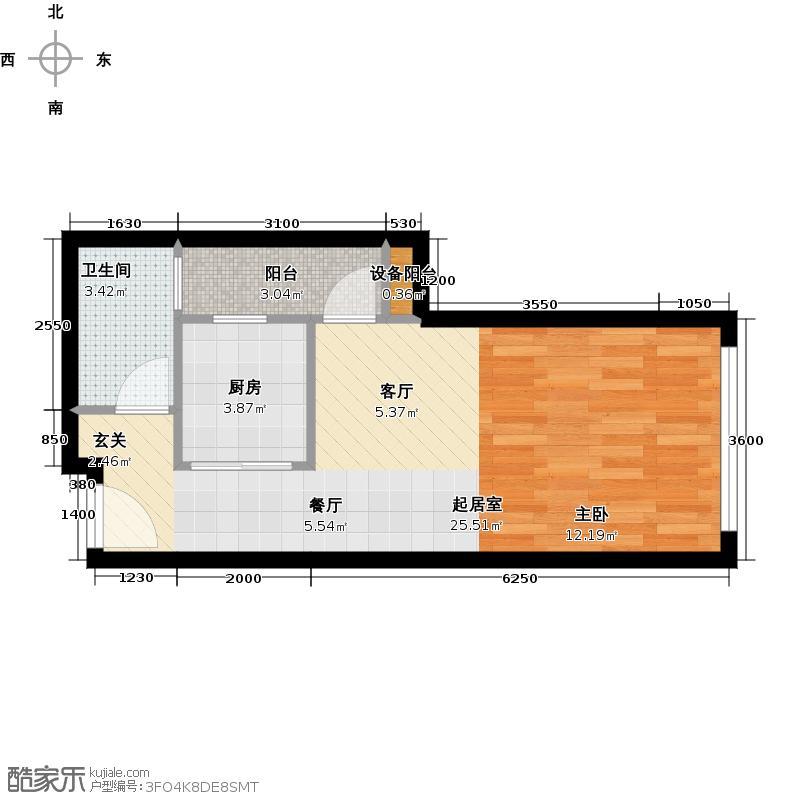 新科国际广场41.99㎡一房一厅一卫-套内面积41.99平方米-16套户型