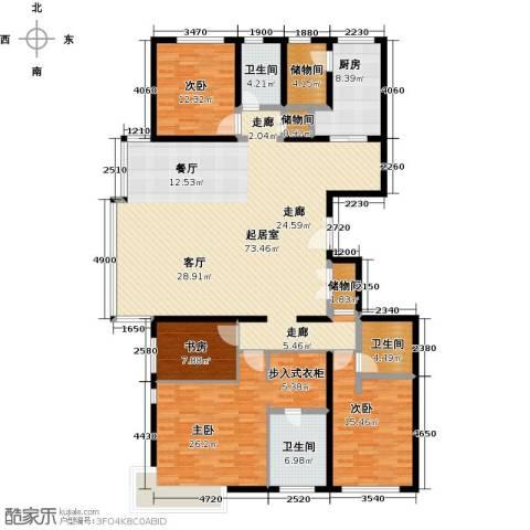 招商嘉铭・珑原4室0厅3卫1厨215.00㎡户型图