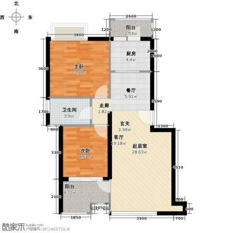 融汇半岛(二期)2室0厅1卫1厨92.00㎡户型图