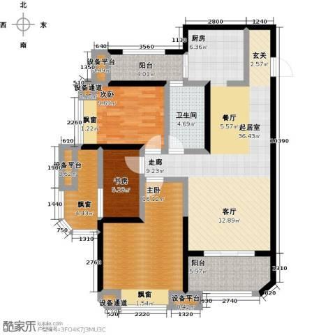 华城泊郡二期3室0厅1卫0厨102.00㎡户型图