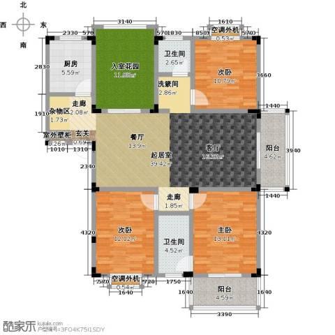 丽�花园3室0厅2卫1厨139.00㎡户型图