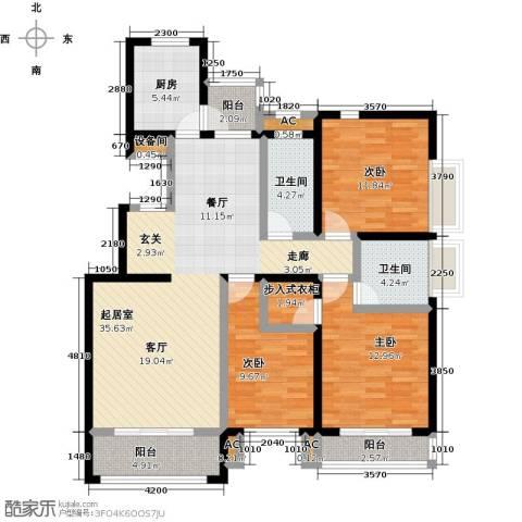 开元花半里3室0厅2卫1厨144.00㎡户型图