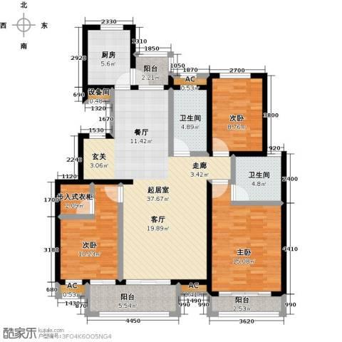 开元花半里3室0厅2卫1厨150.00㎡户型图