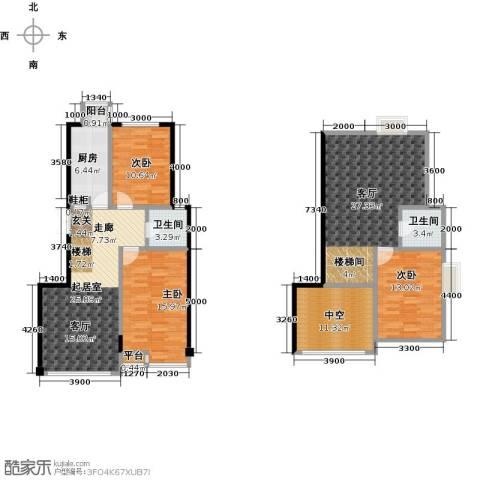 枫丹丽舍3室1厅2卫1厨118.84㎡户型图