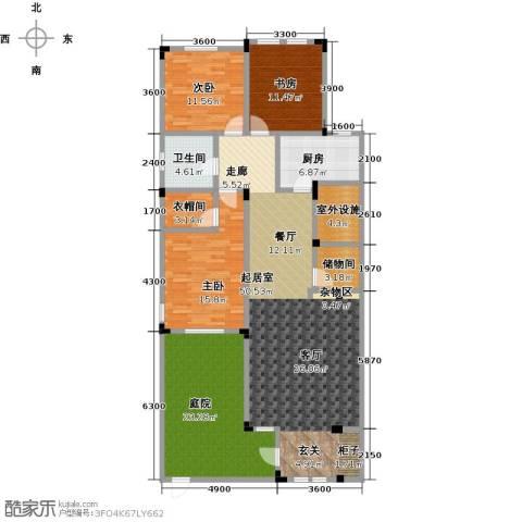 阳光地中海3室0厅1卫1厨134.75㎡户型图