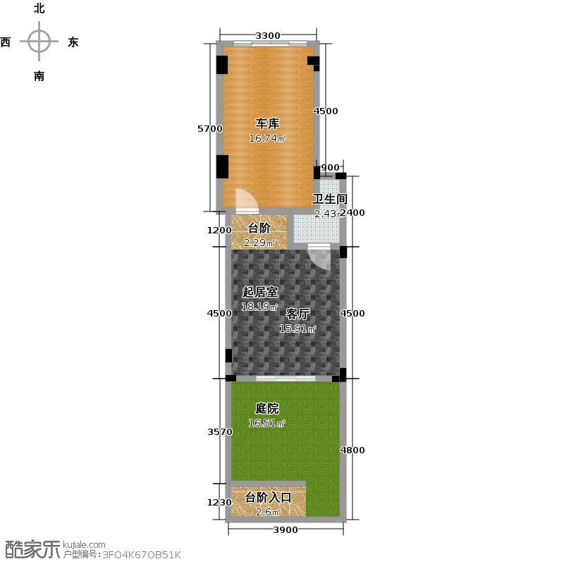阳光地中海52.72㎡电梯洋房A地下一层52.72㎡户型