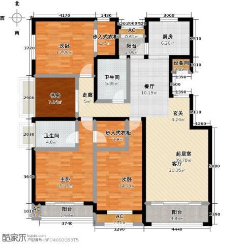 开元花半里4室0厅2卫1厨186.00㎡户型图