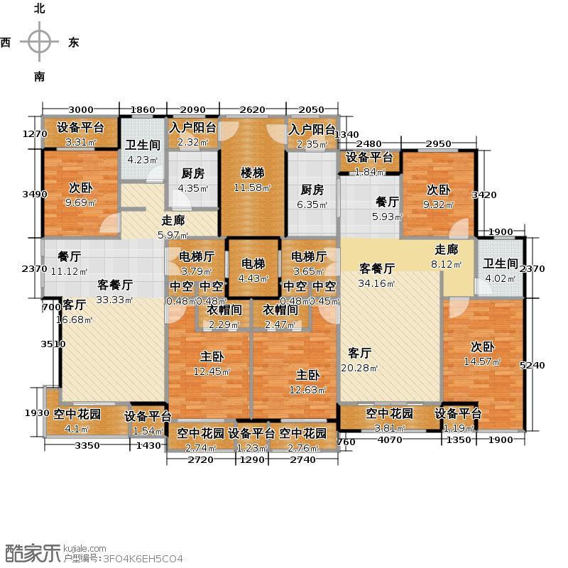 东方维也纳ACA100C124户型5室2厅2卫2厨