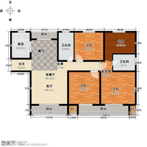 证大多伦多花园2室1厅2卫1厨279.00㎡户型图