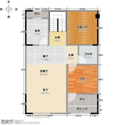 领峰1室1厅1卫1厨79.00㎡户型图