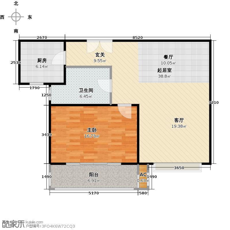 和源名邸80.00㎡房型: 一房; 面积段: 80 -90 平方米; 户型