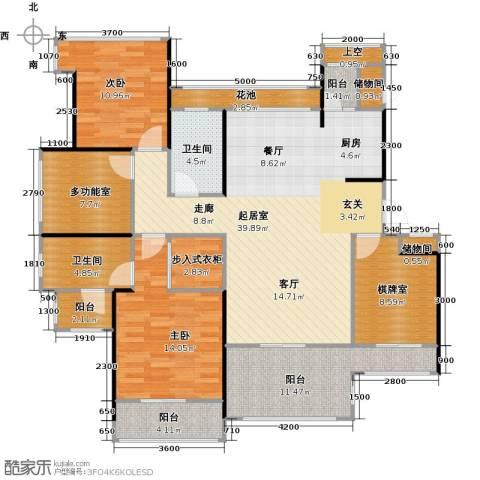 中铁子悦薹2室0厅2卫0厨133.00㎡户型图