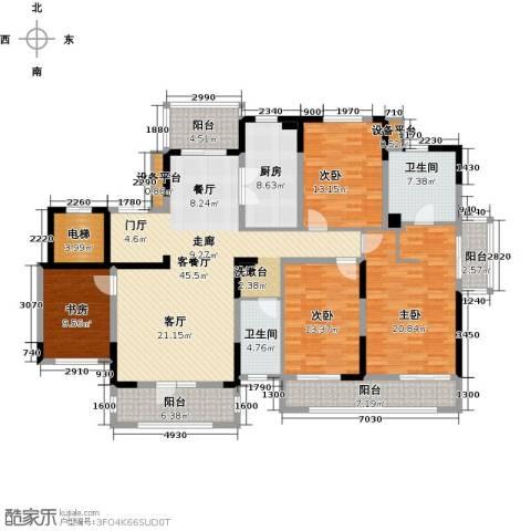 新地阿尔法国际社区4室1厅2卫1厨173.00㎡户型图