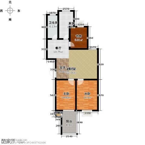 赛格・凯悦华庭3室0厅1卫1厨118.00㎡户型图