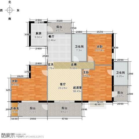 盛世闲庭二期3室0厅2卫1厨186.00㎡户型图