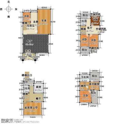 丽�花园5室2厅3卫1厨300.00㎡户型图