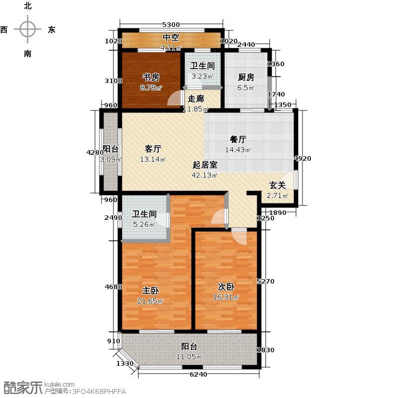 青枫壹号138.73㎡E户型3室2厅2卫户型3室2厅2卫
