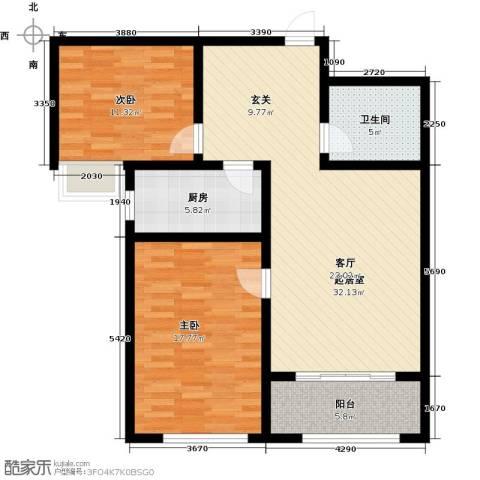 石臼老街2室0厅1卫1厨111.00㎡户型图