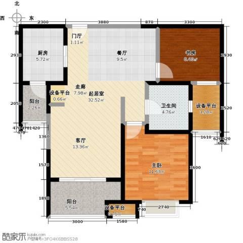 九方城2室0厅1卫1厨107.00㎡户型图