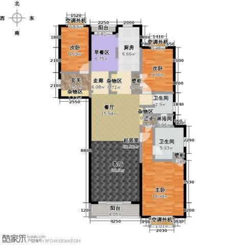 众益万国宫馆3室0厅2卫0厨151.00㎡户型图
