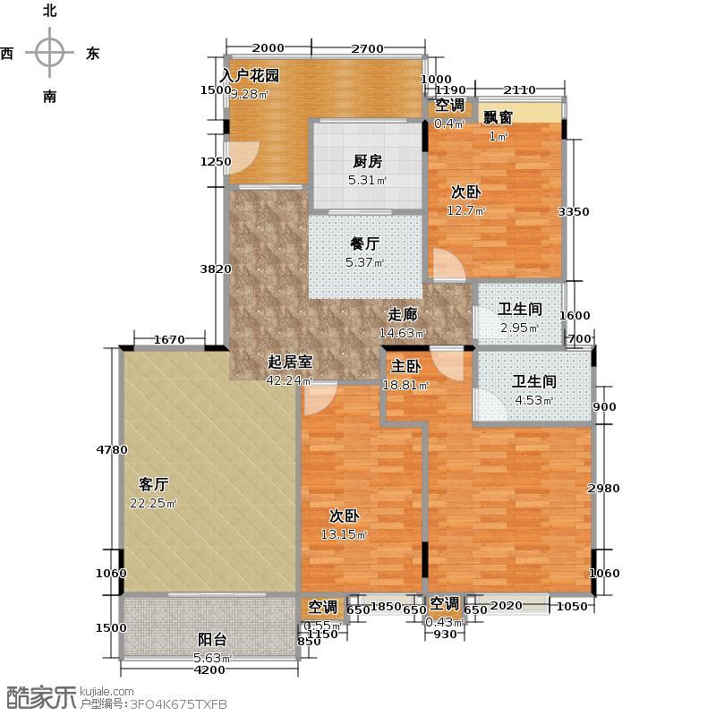 银汇华庭D1栋-201户型3室2卫1厨