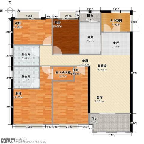 扬州鸿舜御峰4室0厅2卫1厨161.00㎡户型图