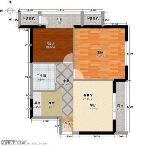万丽国际公寓2室1厅1卫0厨90.00㎡户型图
