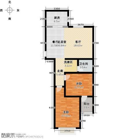 石臼老街2室0厅1卫1厨118.00㎡户型图