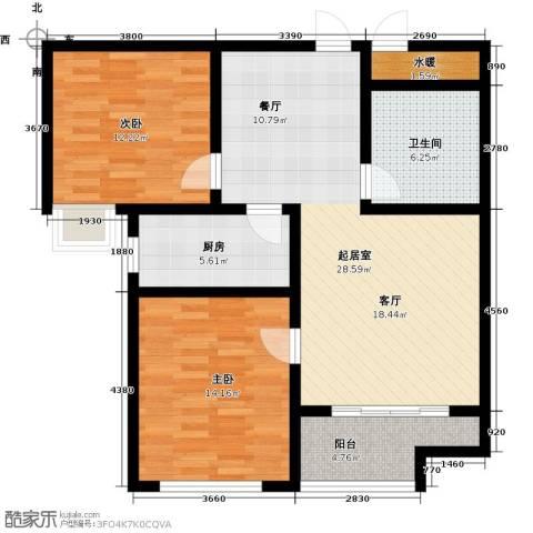 石臼老街2室0厅1卫1厨106.00㎡户型图