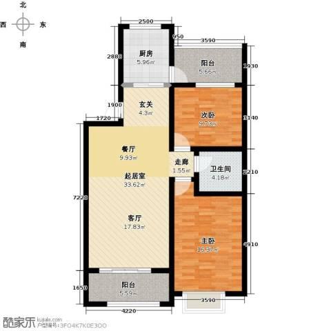 石臼老街2室0厅1卫1厨116.00㎡户型图