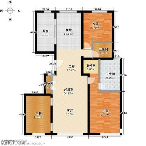 招商嘉铭・珑原3室0厅2卫1厨170.00㎡户型图