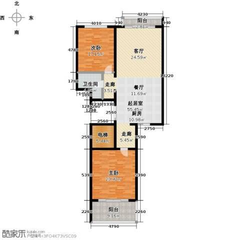 海信海景壹号2室0厅1卫0厨133.00㎡户型图